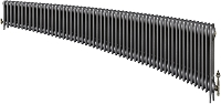 Eastgate Victoriana 3 Column 56 Section Cast Iron Radiator 450mm High x 3405mm Wide - Metallic Finish
